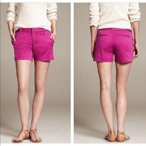 Banana Republic magenta purple shorts